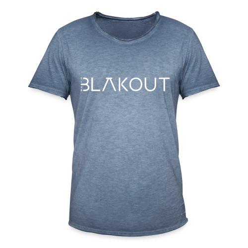 Bläkout -logo valkoinen - Miesten vintage t-paita