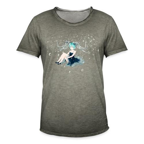 Water Miku O.C. - Maglietta vintage da uomo