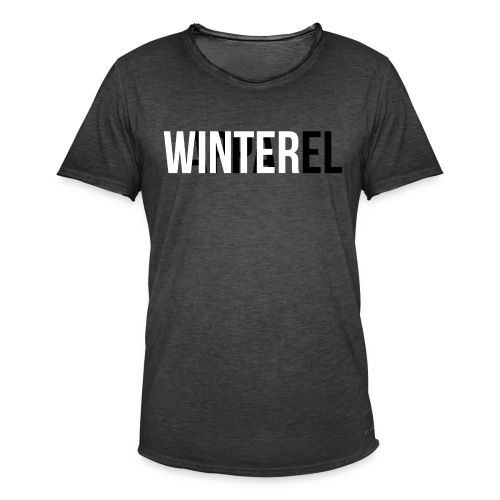 Winter Apparel Logo - Herre vintage T-shirt