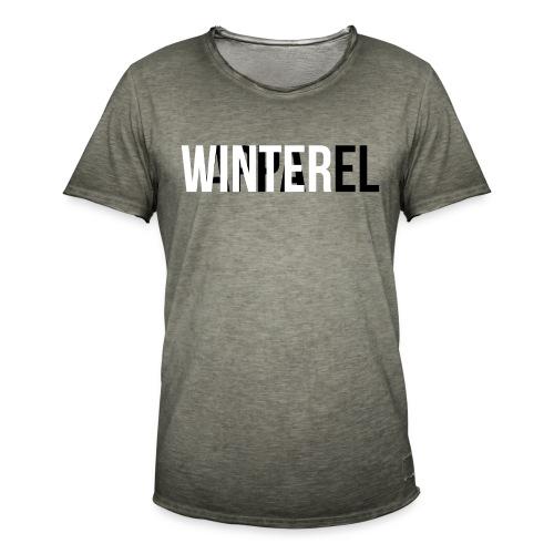 Winter Apparel Logo - Herre vintage T-shirt