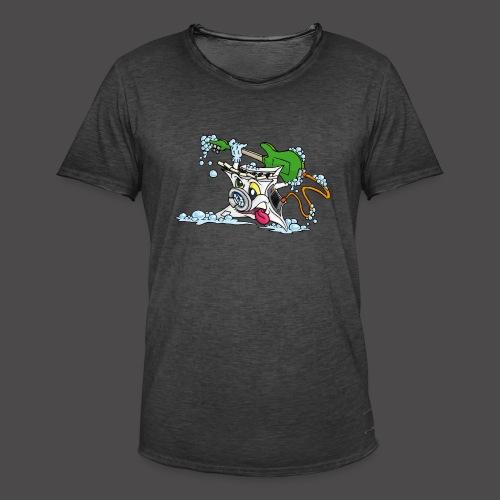 Wicked Washing Machine Wasmachine - Mannen Vintage T-shirt