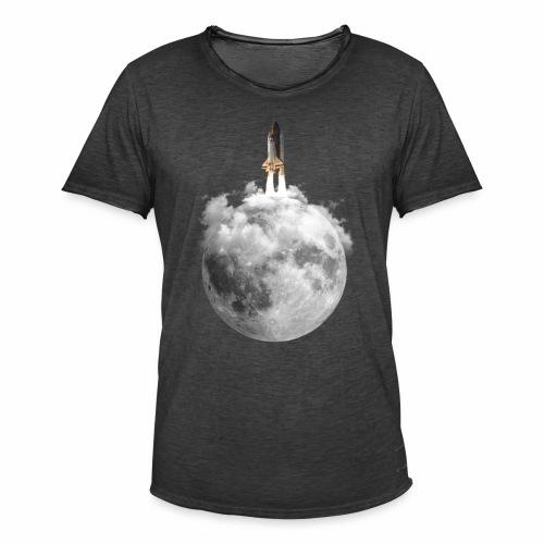 Mondrakete - Männer Vintage T-Shirt