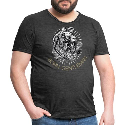 Born Gentleman Lion Design - Männer Vintage T-Shirt