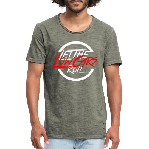 LetTheLowCarsRoll white - Männer Vintage T-Shirt