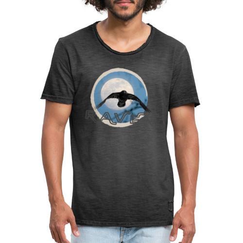 Australian Raven Full Moon - Men's Vintage T-Shirt