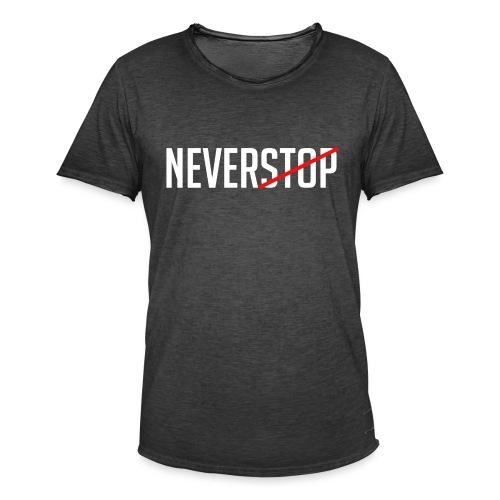 Neverstop - Mannen Vintage T-shirt