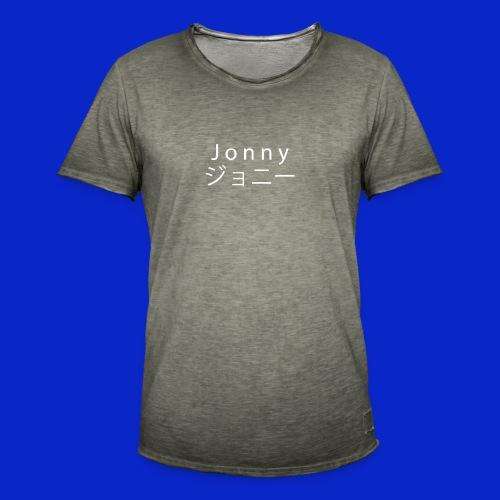 J o n n y (white on black) - Men's Vintage T-Shirt