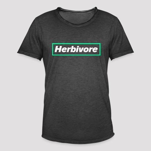 Herbivore Logo White - Maglietta vintage da uomo