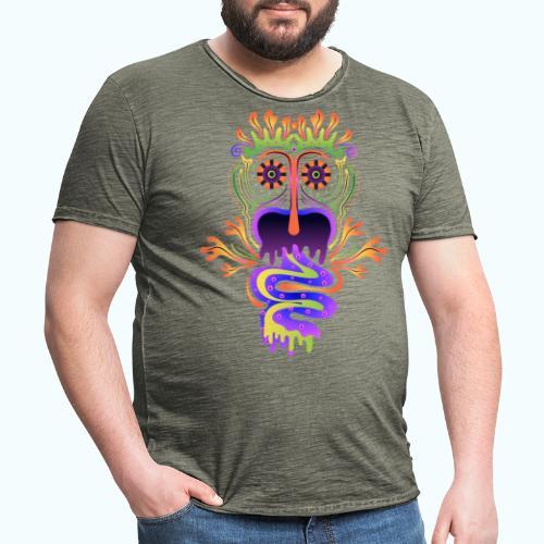 Blacklight Monster Colorful Colors - Men's Vintage T-Shirt