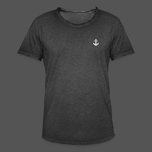 Anker Design T shirt Klassischer weißer Anker - Männer Vintage T-Shirt