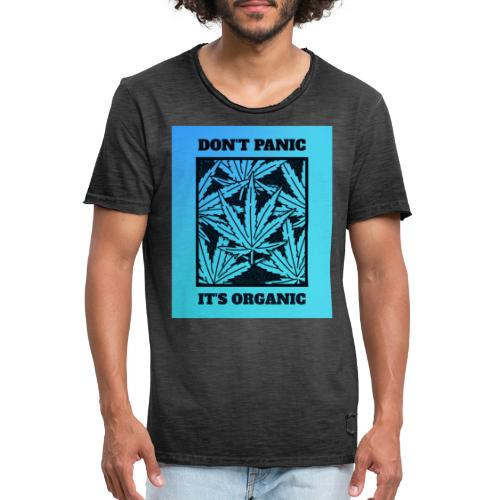 Don´t Panic it´s Organic - Männer Vintage T-Shirt