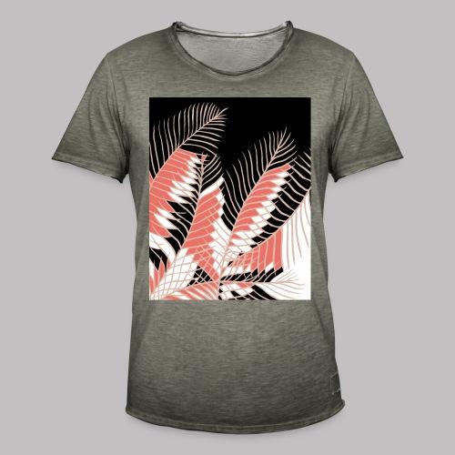 foglie palma 3 living coral - Maglietta vintage da uomo