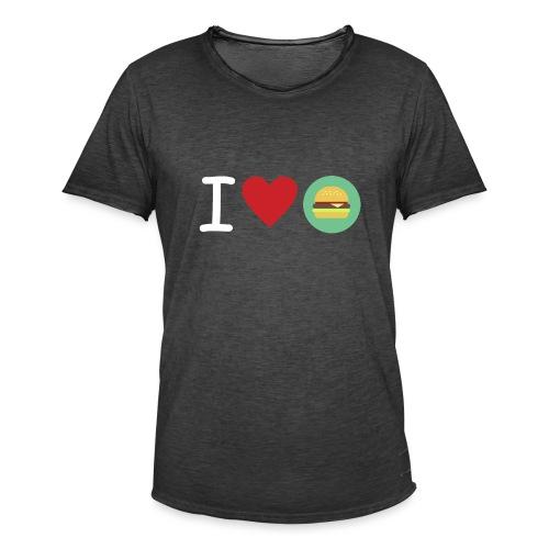 Amor de hamburguesa - Camiseta vintage hombre