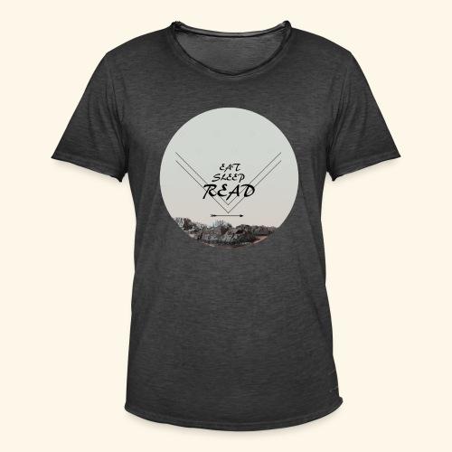 Eat, Sleep, Read - Vintage-T-shirt herr