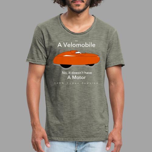 it's a velomobile white text - Miesten vintage t-paita