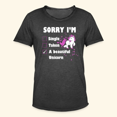 lustiges Beziehung Einhorn T-Shirt - Männer Vintage T-Shirt