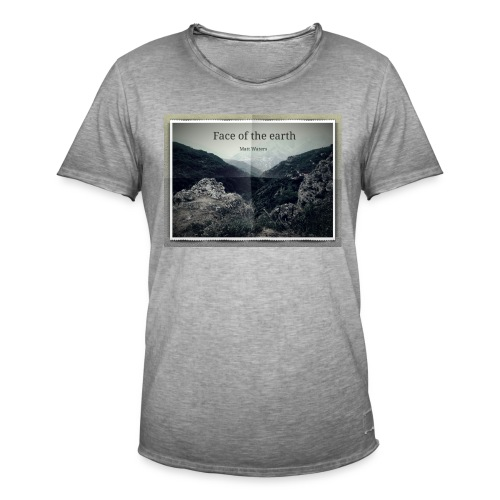face of the earth - Mannen Vintage T-shirt