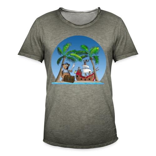 Pirat - Piratenschiff - Schatzinsel - Männer Vintage T-Shirt