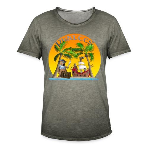 Piraten - Schatz - Männer Vintage T-Shirt