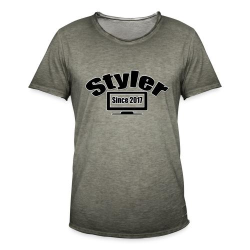 Styler Design T-Shirt Mannen - Mannen Vintage T-shirt