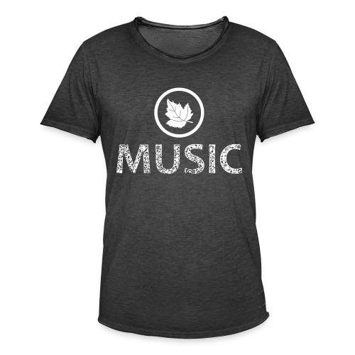 logo bashk music e bardhe - Men's Vintage T-Shirt
