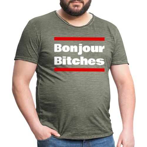 Bonjour Bitches - Männer Vintage T-Shirt