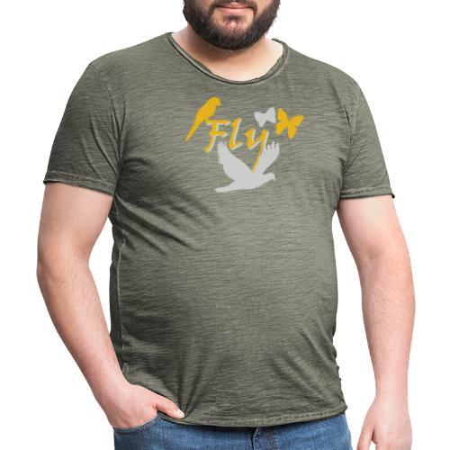 Fly - Männer Vintage T-Shirt