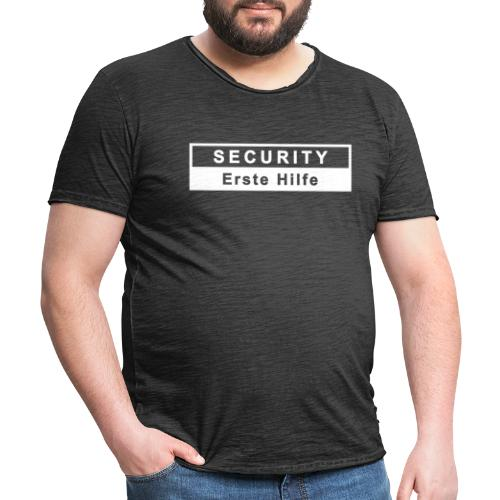 Security & Erste Hilfe, weiss - Männer Vintage T-Shirt