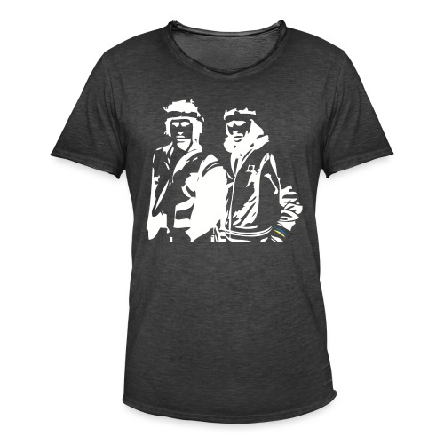 Borg McEnroe Retro Green+White - Miesten vintage t-paita