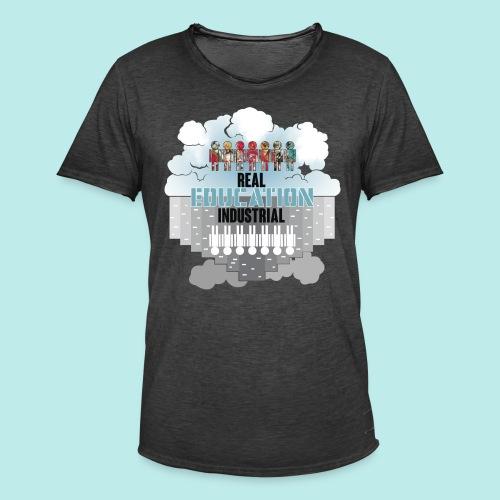 Real Education vs. Industrial Education - Camiseta vintage hombre