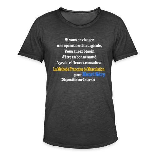 LMF Chirurgie v2 - T-shirt vintage Homme