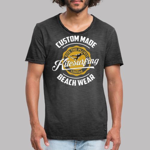 kite the planet custom - Männer Vintage T-Shirt