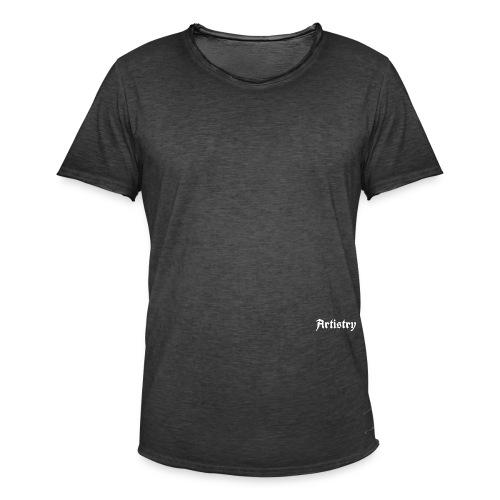 Artistry Branded White - Männer Vintage T-Shirt