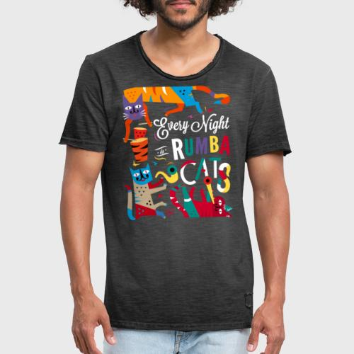Chats Musique - Rumba salsa mambo - T-shirt vintage Homme