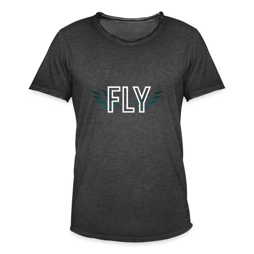 Wings Fly Design - Men's Vintage T-Shirt