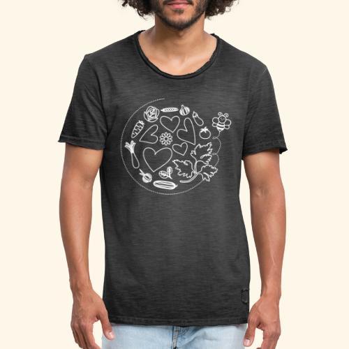 Abeja en el huerto - Camiseta vintage hombre