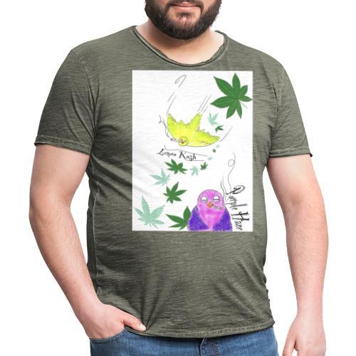 k u s h - Männer Vintage T-Shirt