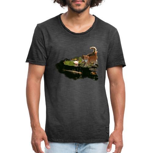 Cats meet Koi - Men's Vintage T-Shirt