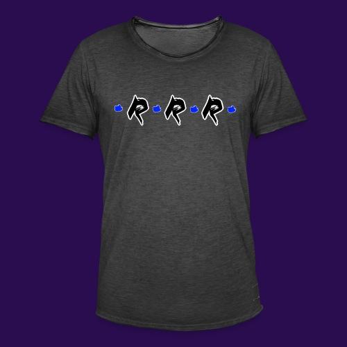 Blue Logo - Männer Vintage T-Shirt