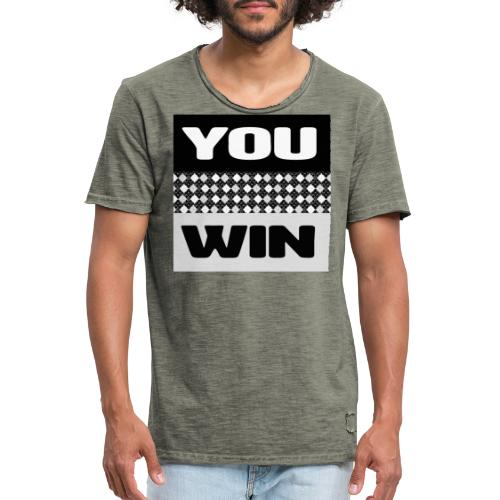 you win 7 - Men's Vintage T-Shirt
