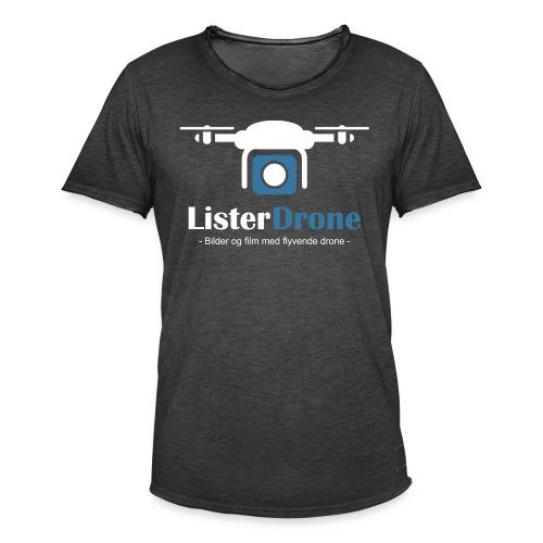 ListerDrone logo - Vintage-T-skjorte for menn
