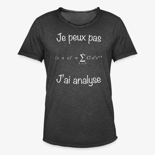 Je peux pas, j'ai analyse - Männer Vintage T-Shirt