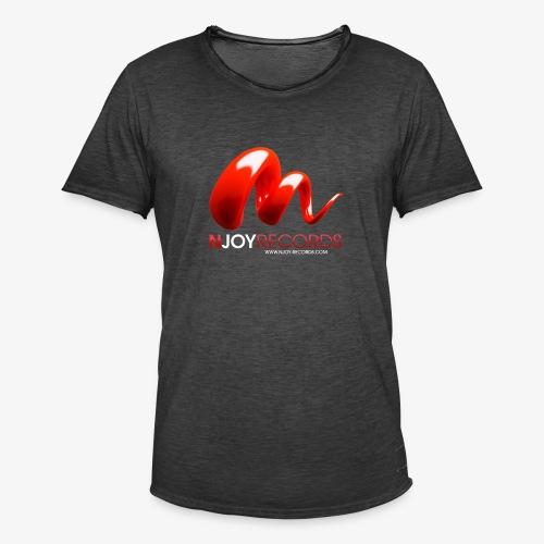 Logo Njoy Records Blanc - T-shirt vintage Homme