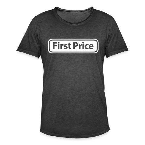 First Price - Vintage-T-skjorte for menn