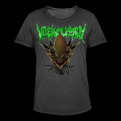 Alien head logo - Vintage-T-shirt herr