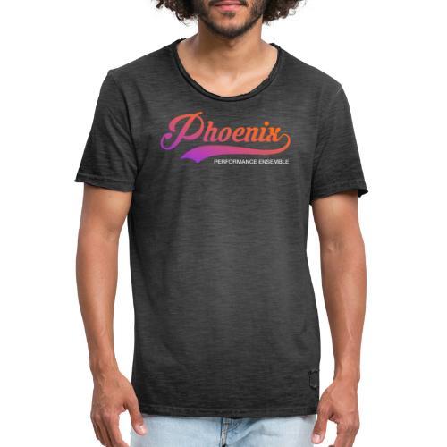Phoenix Retro Color - Männer Vintage T-Shirt
