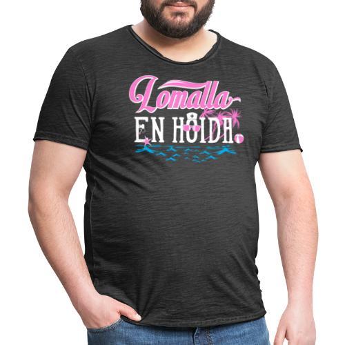 Lomalla en hoida - Miesten vintage t-paita