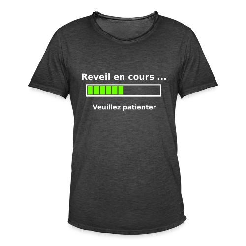 tendance réveil en cours veuillez patienter - T-shirt vintage Homme