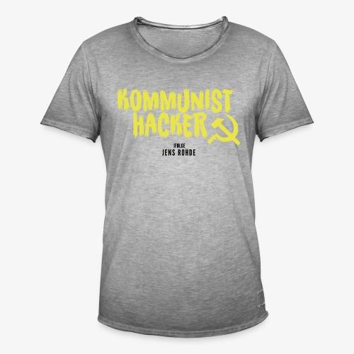 Kommunist Hacker ifølge Jens - Herre vintage T-shirt