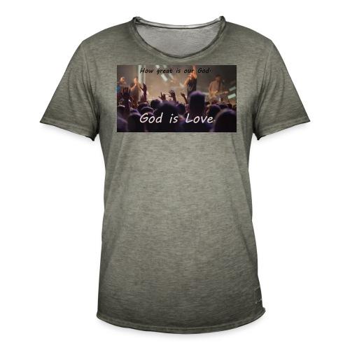 GOD is LOVE. - Männer Vintage T-Shirt